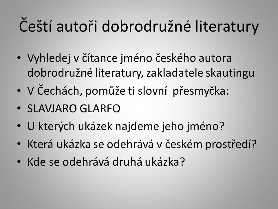 Čeští autoři dobrodružné literatury
