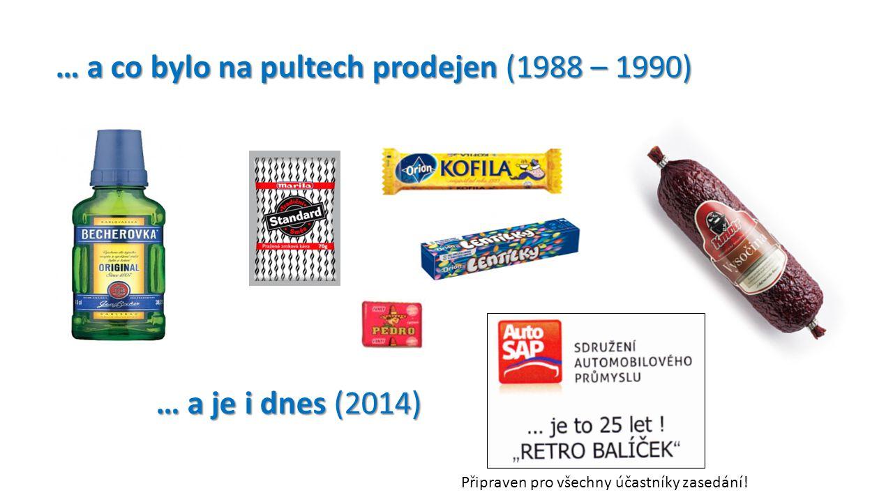 … a co bylo na pultech prodejen (1988 – 1990)