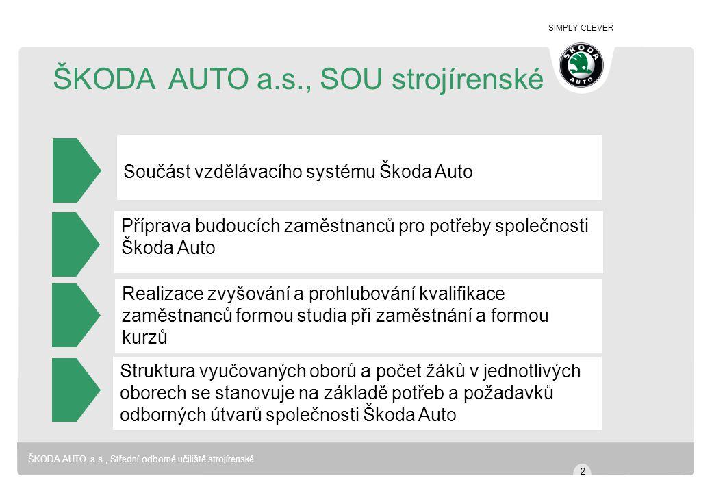 ŠKODA AUTO a.s., SOU strojírenské
