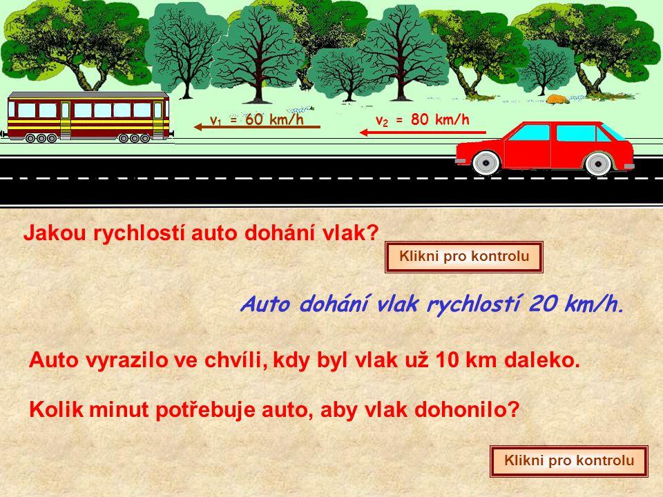 Jakou rychlostí auto dohání vlak