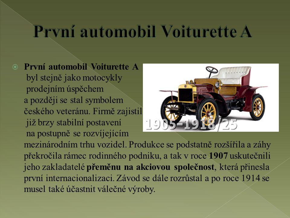 První automobil Voiturette A