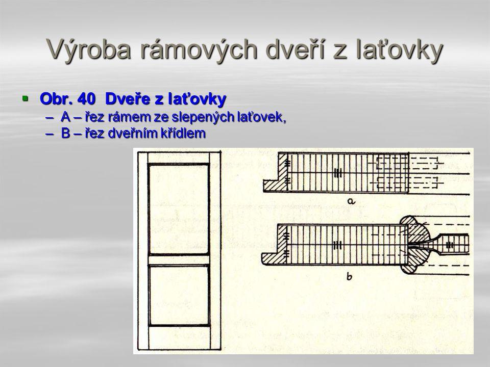 Výroba rámových dveří z Iaťovky