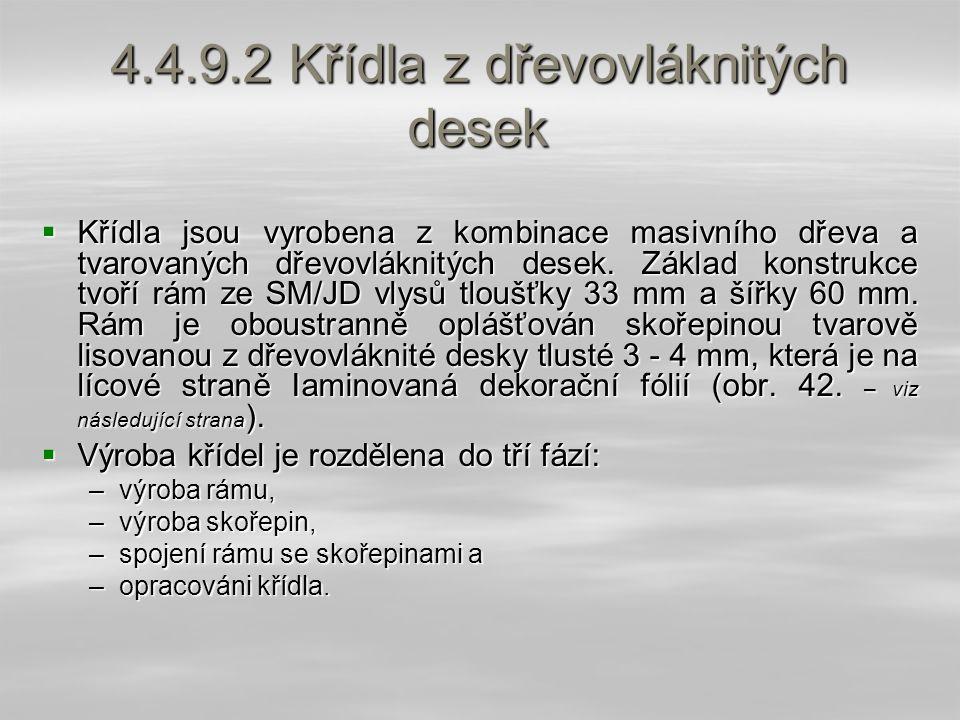 4.4.9.2 Křídla z dřevovláknitých desek