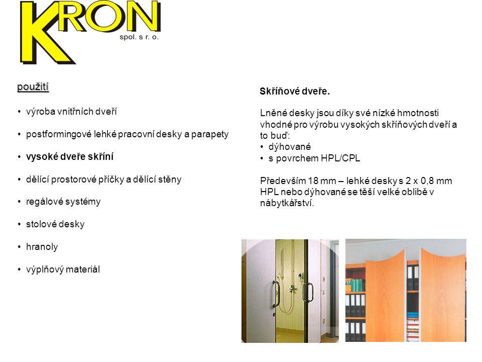 použití Skříňové dveře. výroba vnitřních dveří