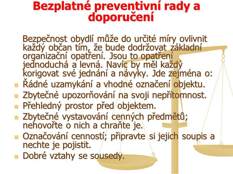 Bezplatné preventivní rady a doporučení