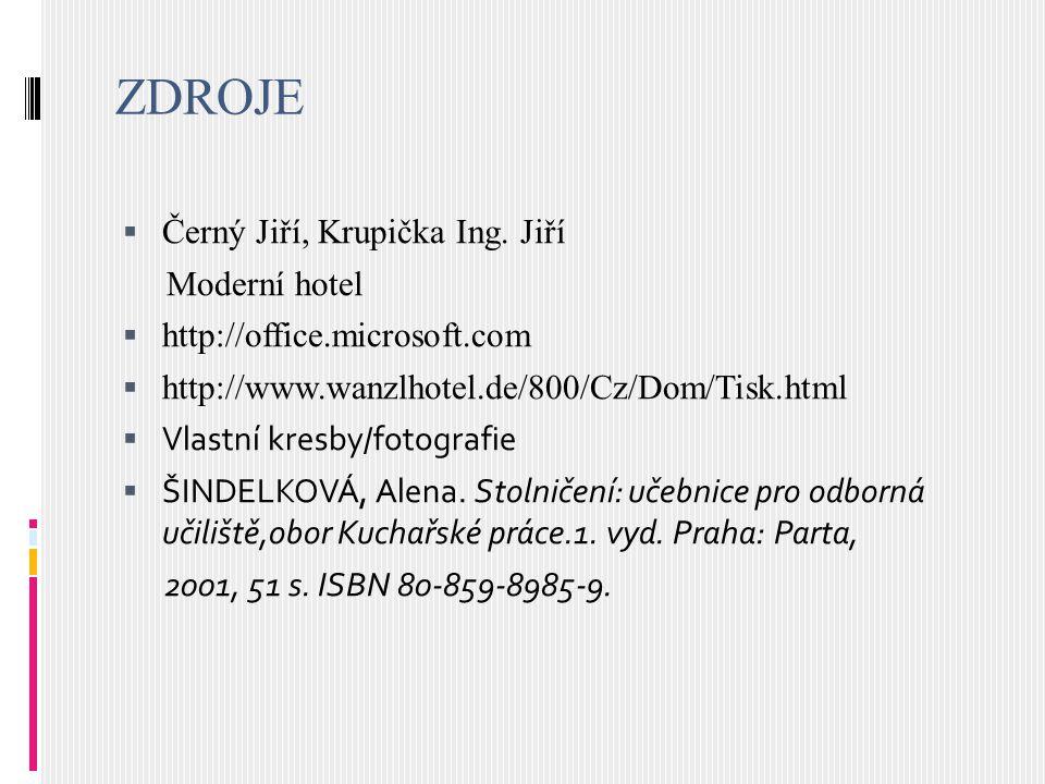 ZDROJE Černý Jiří, Krupička Ing. Jiří Moderní hotel