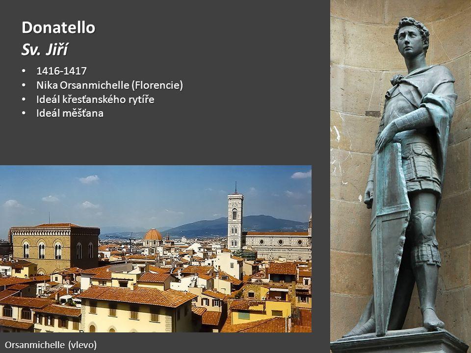 Donatello Sv. Jiří 1416-1417 Nika Orsanmichelle (Florencie)