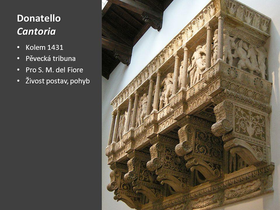Donatello Cantoria Kolem 1431 Pěvecká tribuna Pro S. M. del Fiore