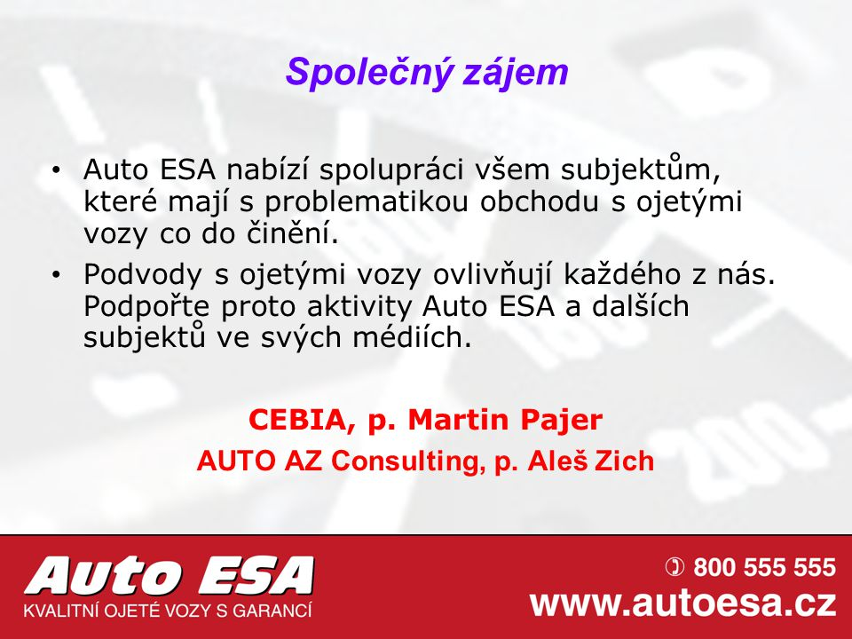 AUTO AZ Consulting, p. Aleš Zich