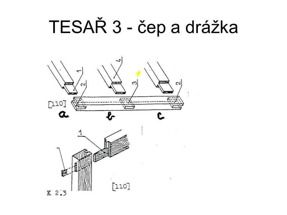 TESAŘ 3 - čep a drážka