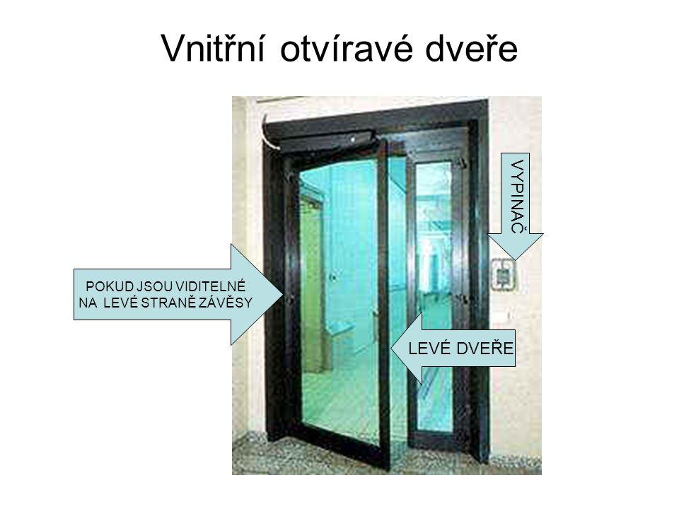 Vnitřní otvíravé dveře