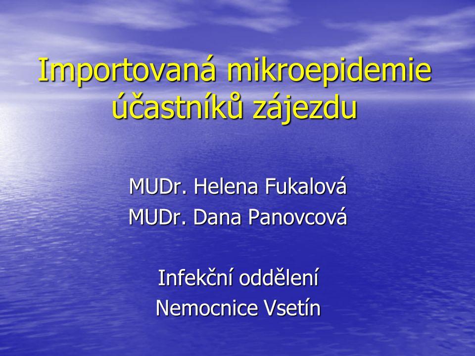 Importovaná mikroepidemie účastníků zájezdu