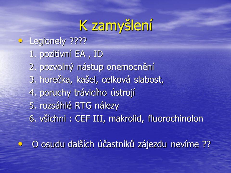 K zamyšlení Legionely 1. pozitivní EA , ID