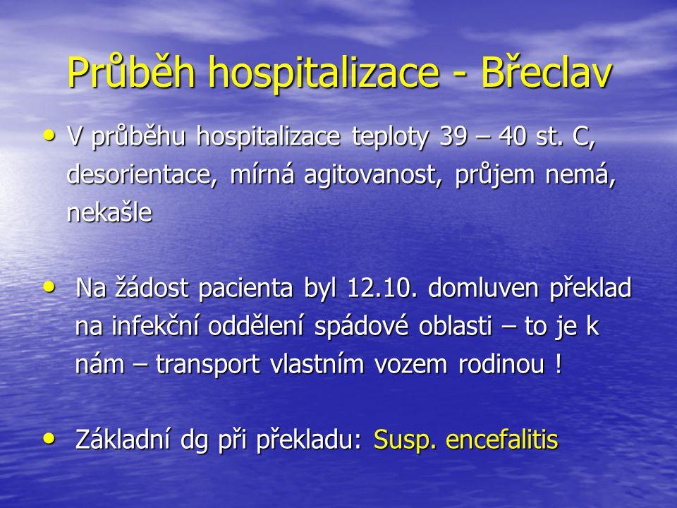 Průběh hospitalizace - Břeclav