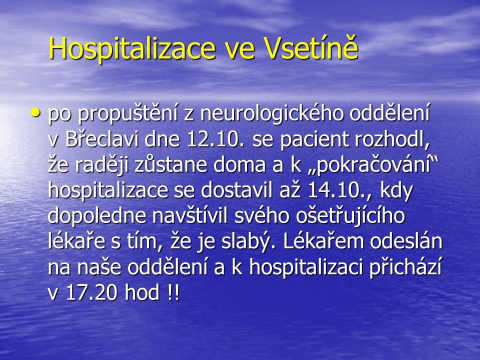 Hospitalizace ve Vsetíně