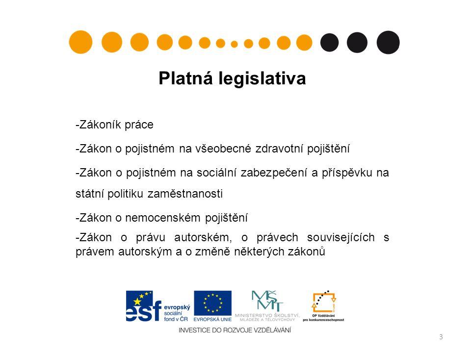 Platná legislativa Zákoník práce