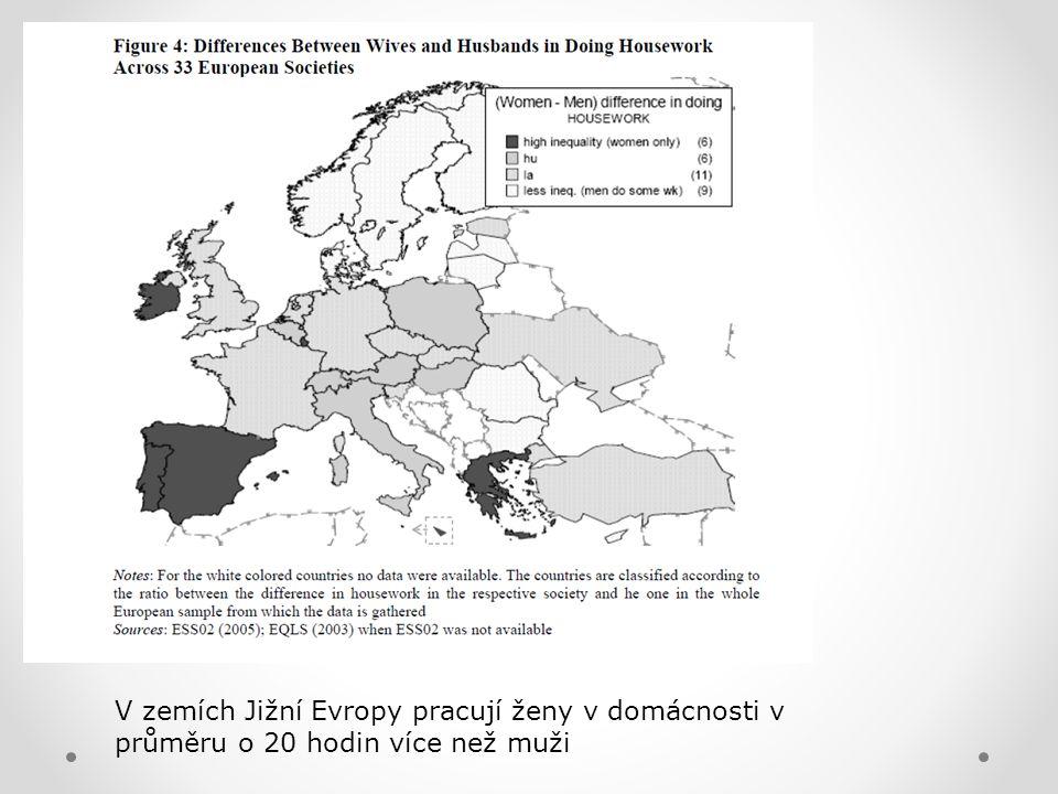 V zemích Jižní Evropy pracují ženy v domácnosti v
