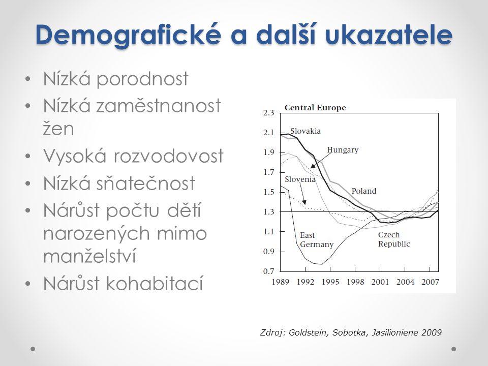Demografické a další ukazatele
