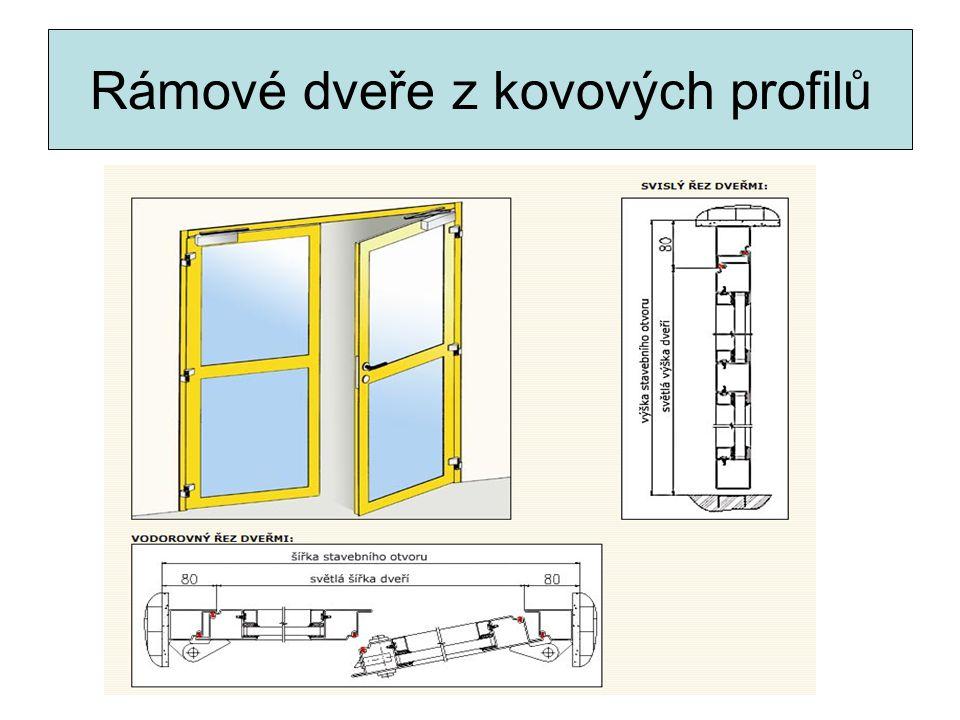 Rámové dveře z kovových profilů