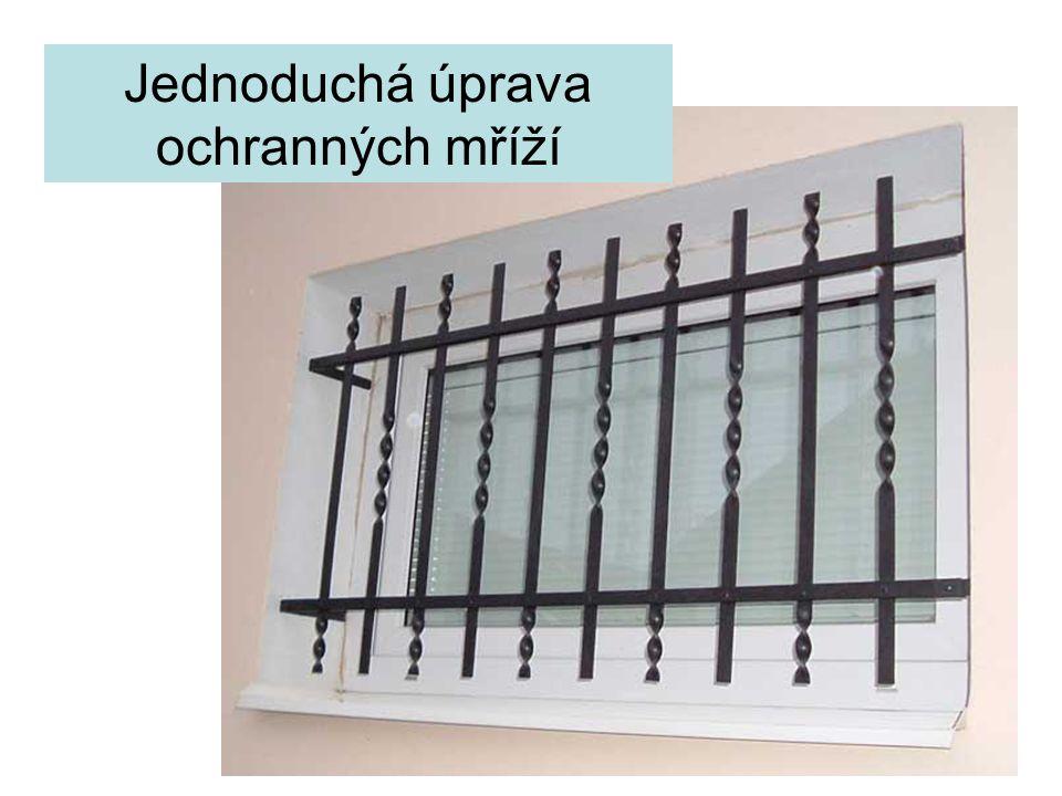 Jednoduchá úprava ochranných mříží
