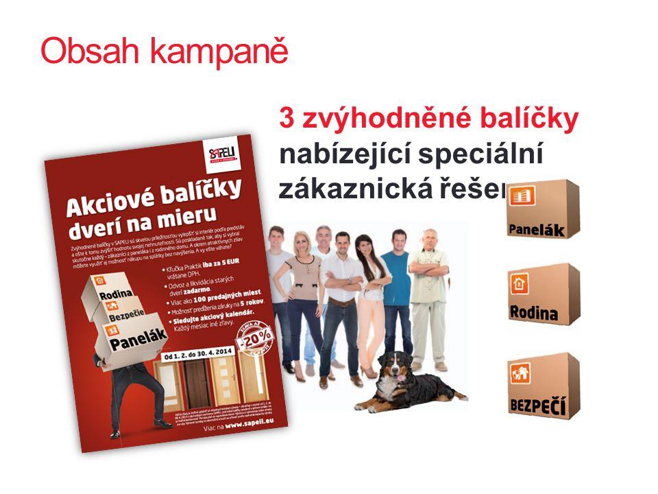 Obsah kampaně 3 zvýhodněné balíčky nabízející speciální zákaznická řešení