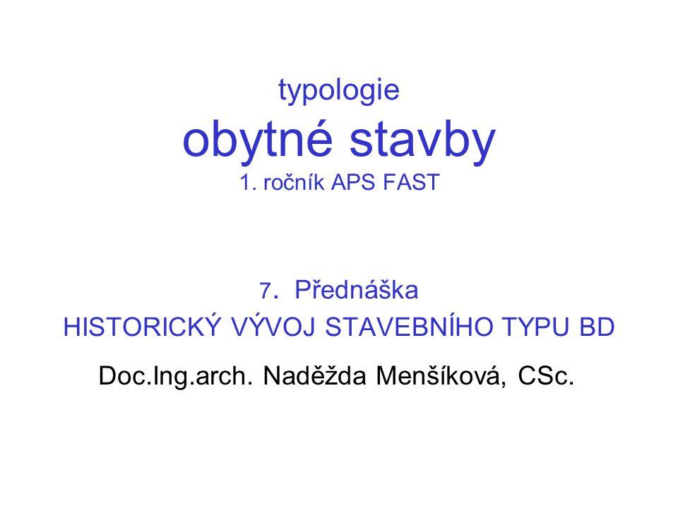 Doc.Ing.arch. Naděžda Menšíková, CSc.