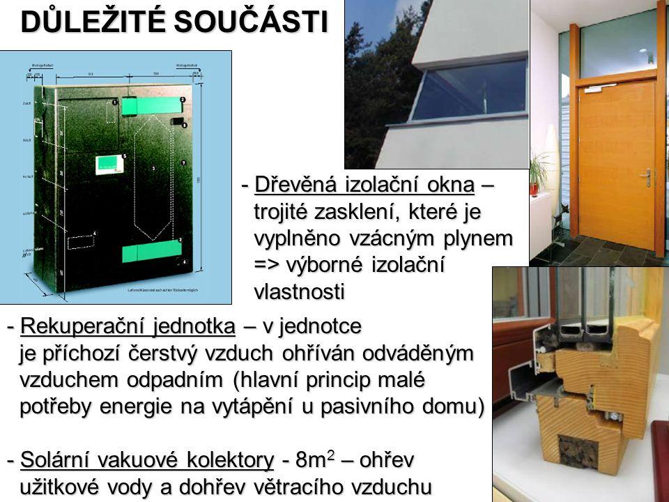 DŮLEŽITÉ SOUČÁSTI - Dřevěná izolační okna – trojité zasklení, které je