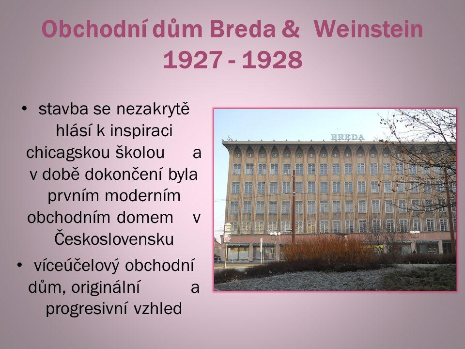 Obchodní dům Breda & Weinstein 1927 - 1928