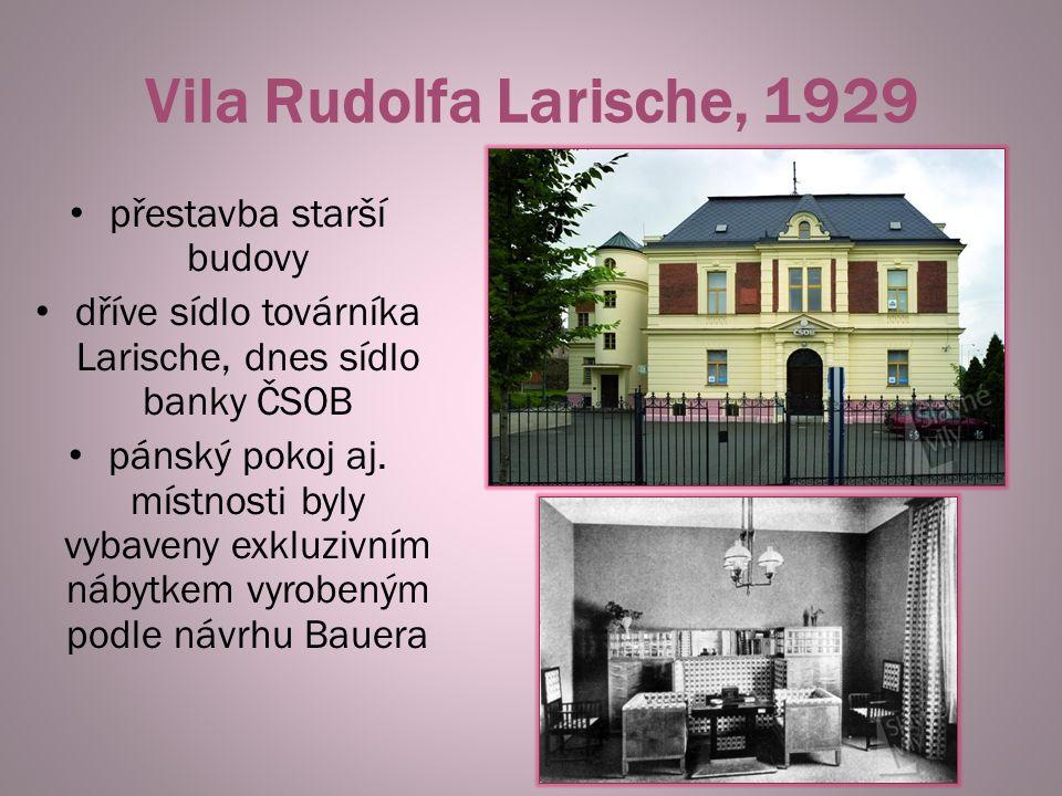 Vila Rudolfa Larische, 1929 přestavba starší budovy