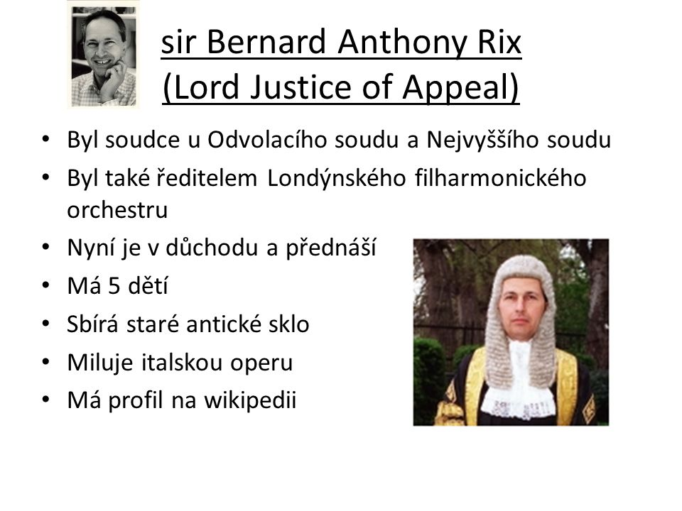 sir Bernard Anthony Rix (Lord Justice of Appeal)