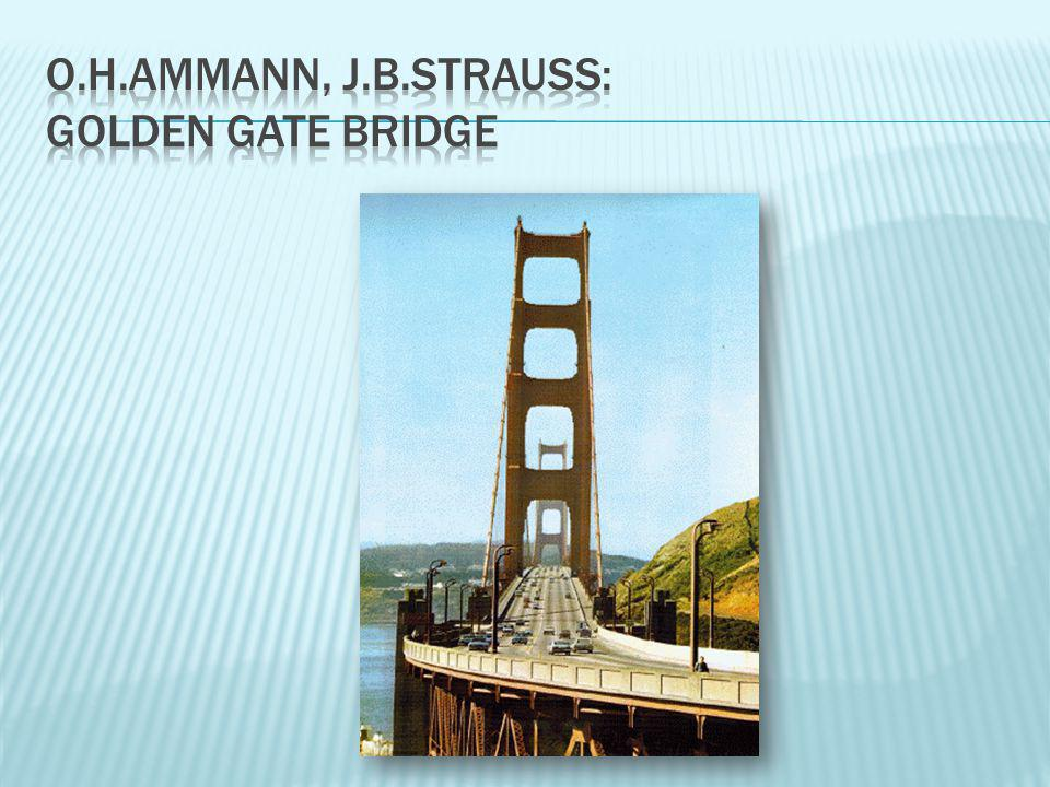 o.h.ammann, j.b.strauss: golden gate bridge