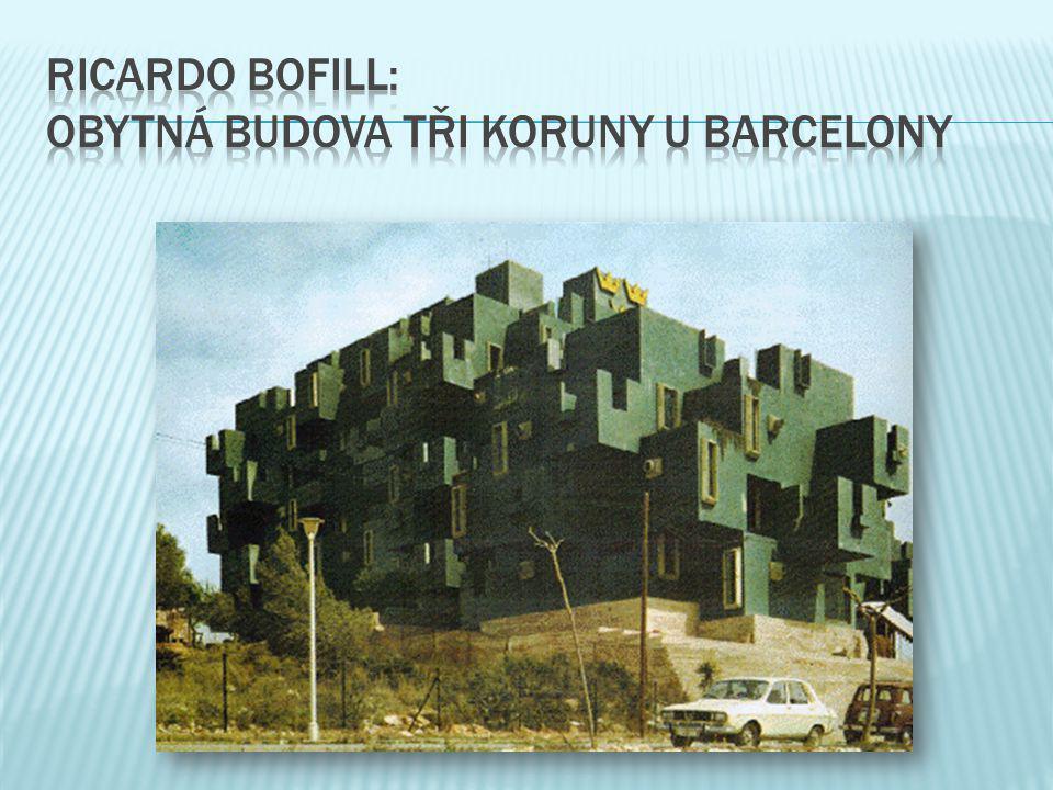 ricardo bofill: obytná budova tři koruny u barcelony
