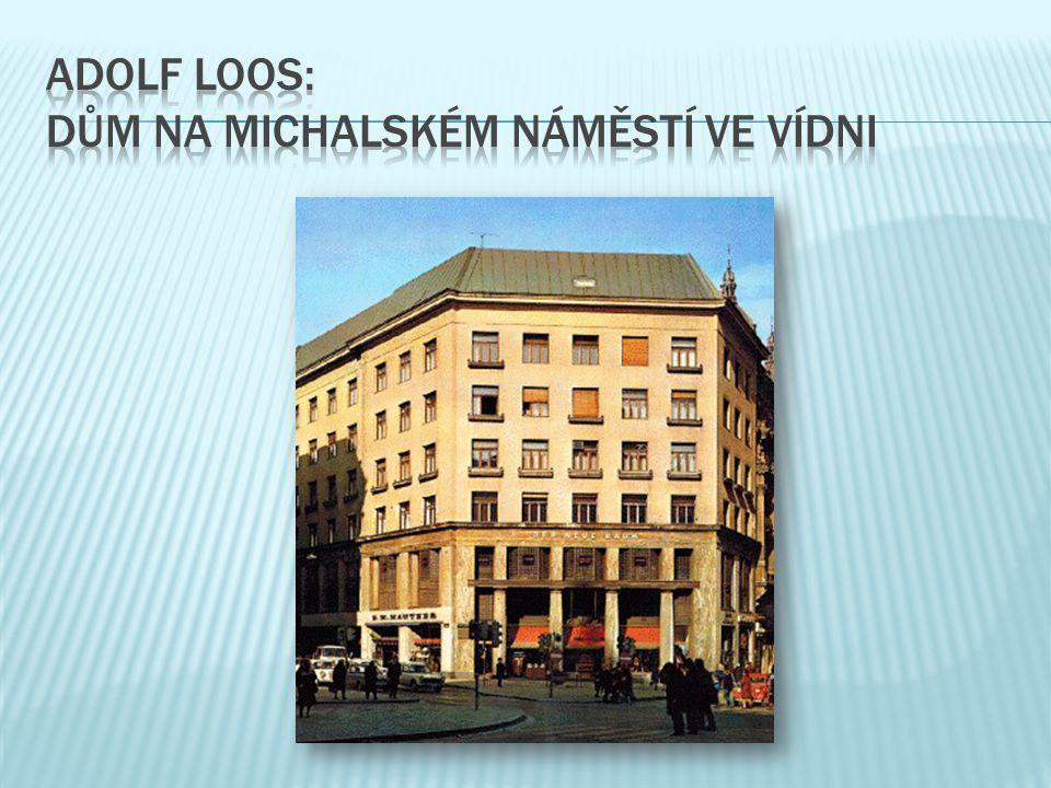 Adolf loos: dům na michalském náměstí ve vídni