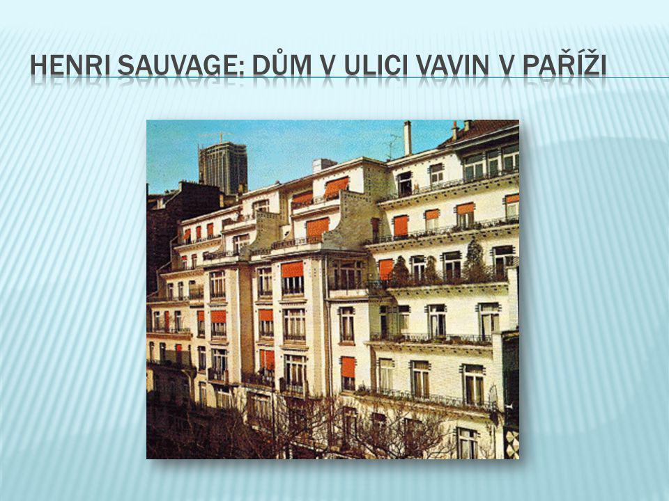 Henri sauvage: dům v ulici vavin v paříži