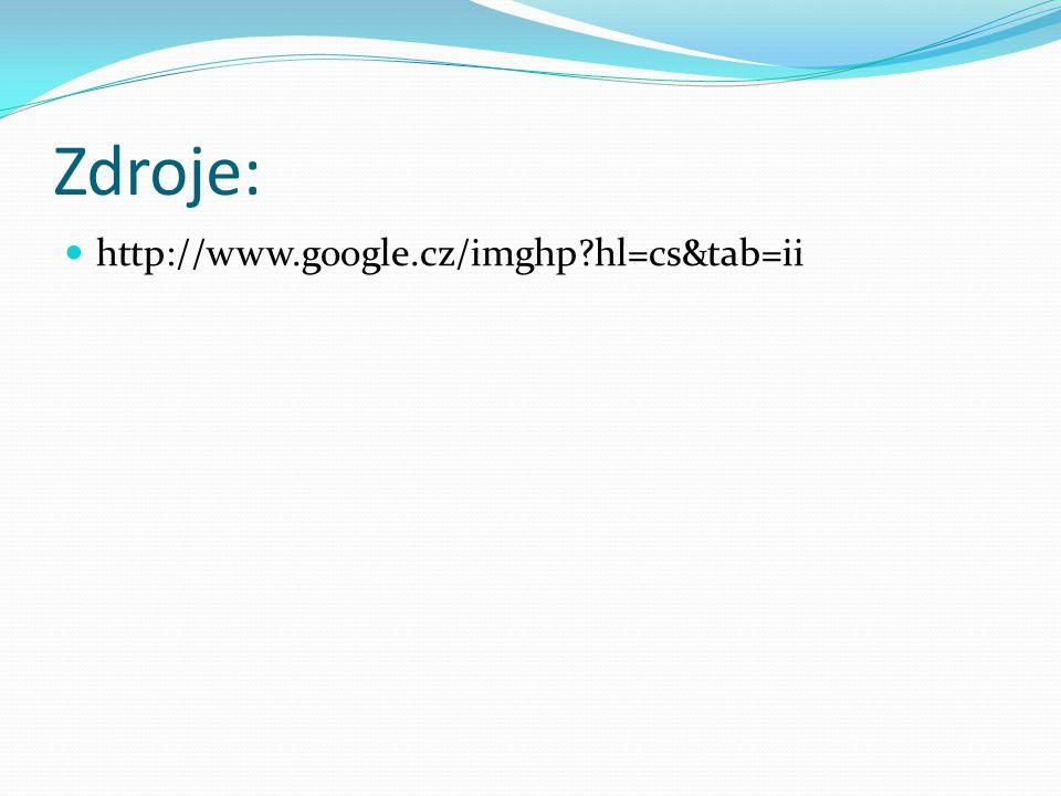 Zdroje: http://www.google.cz/imghp hl=cs&tab=ii