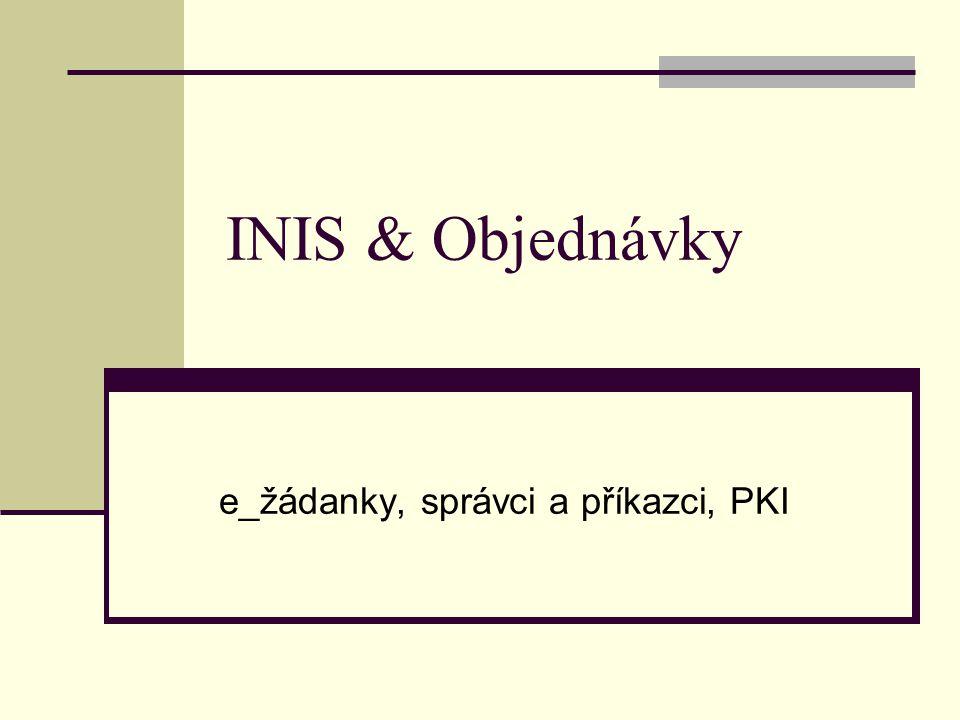e_žádanky, správci a příkazci, PKI