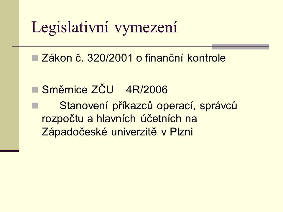 Legislativní vymezení