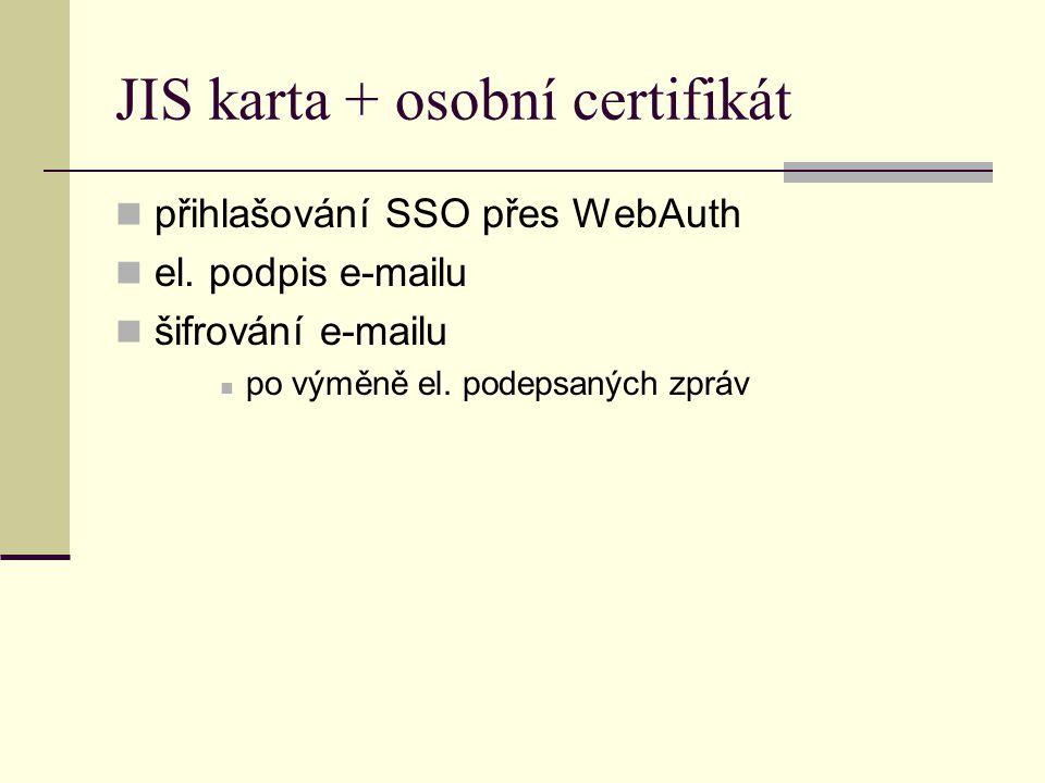 JIS karta + osobní certifikát