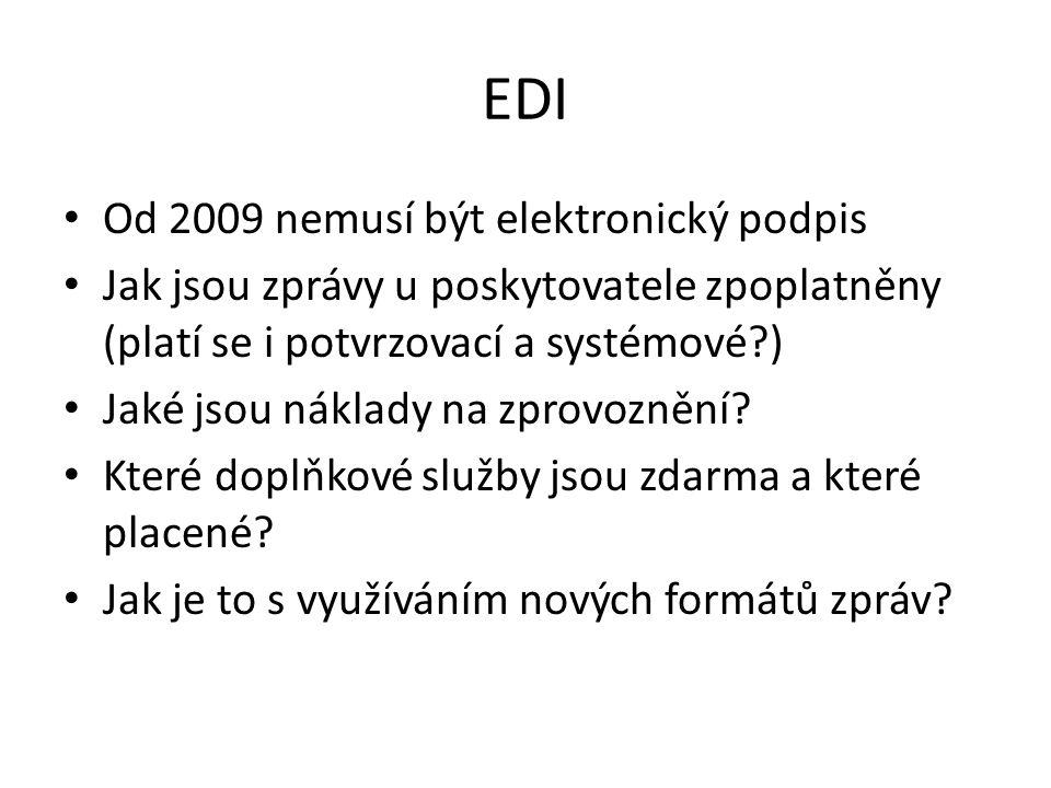 EDI Od 2009 nemusí být elektronický podpis