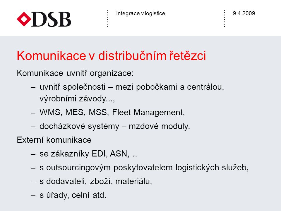 Komunikace v distribučním řetězci