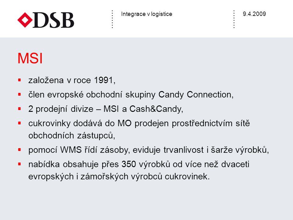 MSI založena v roce 1991, člen evropské obchodní skupiny Candy Connection, 2 prodejní divize – MSI a Cash&Candy,