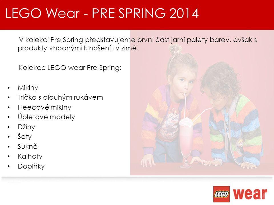 LEGO Wear - PRE SPRING 2014 V kolekci Pre Spring představujeme první část jarní palety barev, avšak s produkty vhodnými k nošení i v zimě.