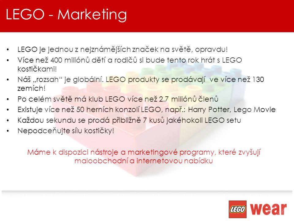 LEGO - Marketing LEGO je jednou z nejznámějších značek na světě, opravdu!