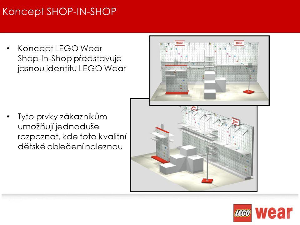 Koncept SHOP-IN-SHOP Koncept LEGO Wear Shop-In-Shop představuje jasnou identitu LEGO Wear.