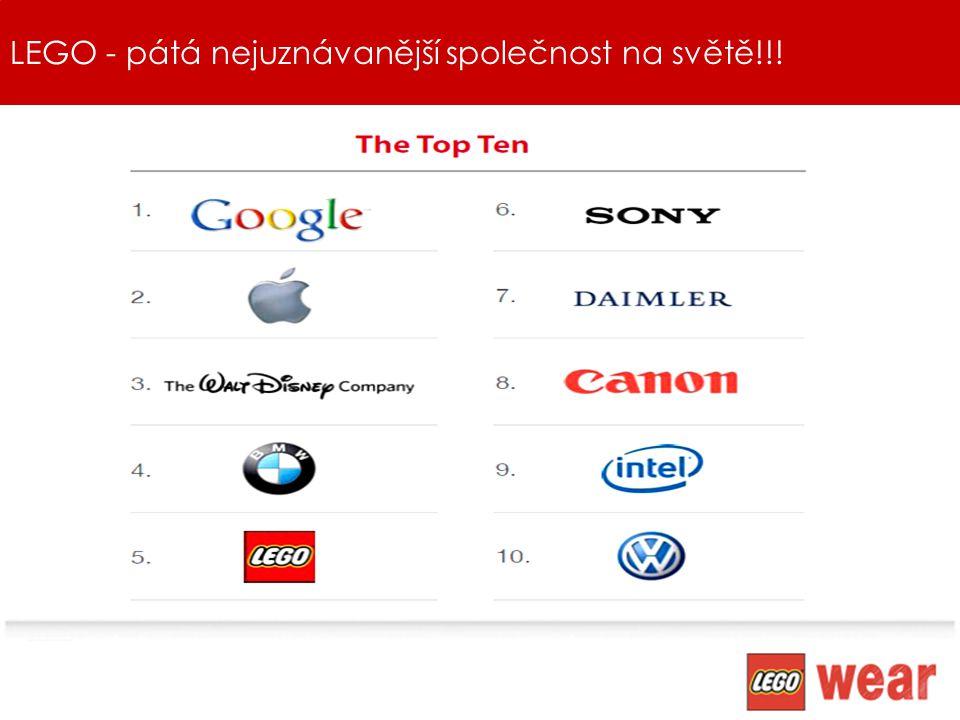 LEGO - pátá nejuznávanější společnost na světě!!!