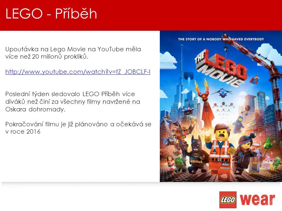 LEGO - Příběh Upoutávka na Lego Movie na YouTube měla více než 20 milionů prokliků. http://www.youtube.com/watch v=fZ_JOBCLF-I.