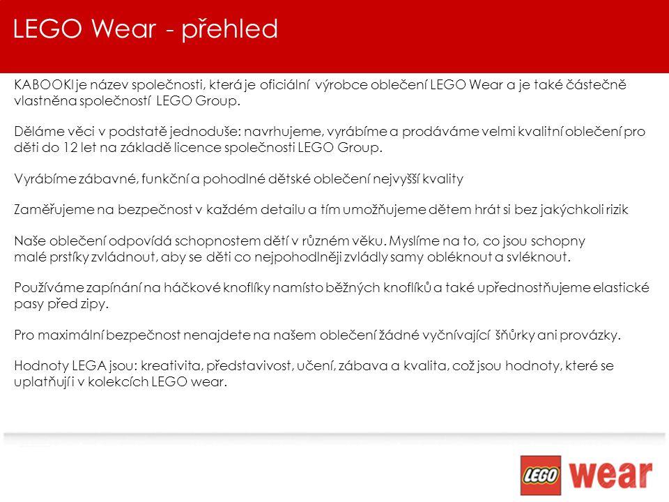 LEGO Wear - přehled