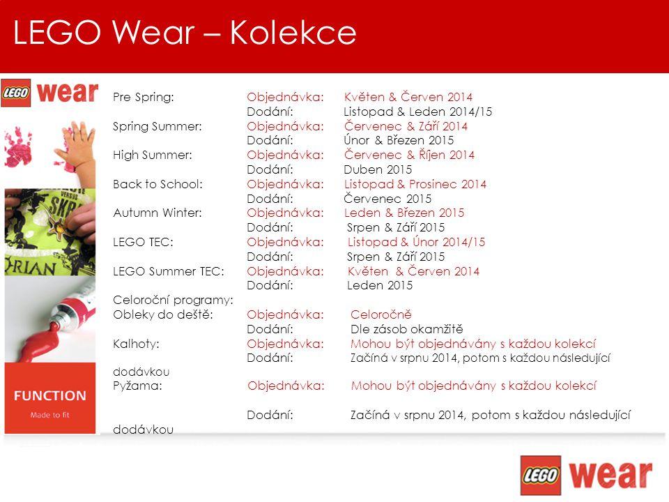 LEGO Wear – Kolekce Pre Spring: Objednávka: Květen & Červen 2014
