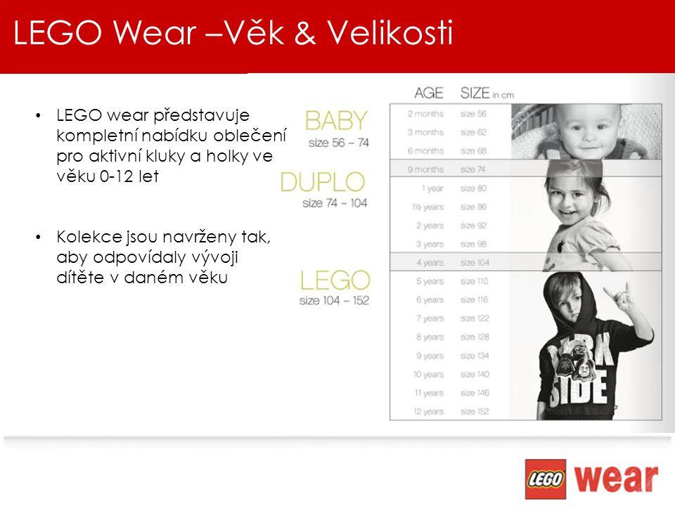 LEGO Wear –Věk & Velikosti