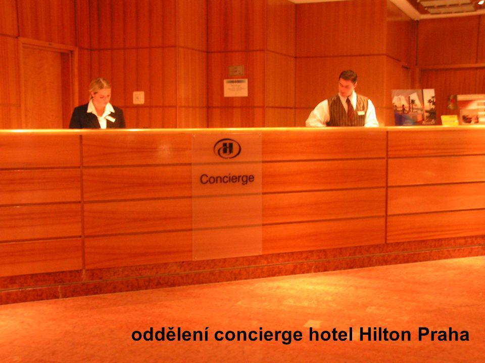 oddělení concierge hotel Hilton Praha